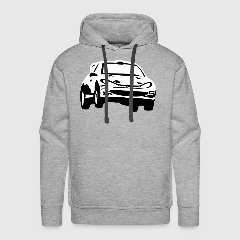 Rally car, racing car - Men's Premium Hoodie