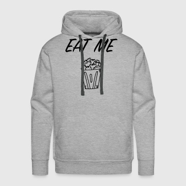 I Love Popcorn Eat Me Food Gift - Men's Premium Hoodie