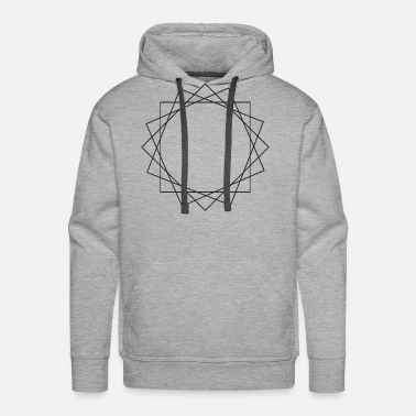 Layer Layered shapes symbols gift triangle hipster sign - Men's Premium Hoodie