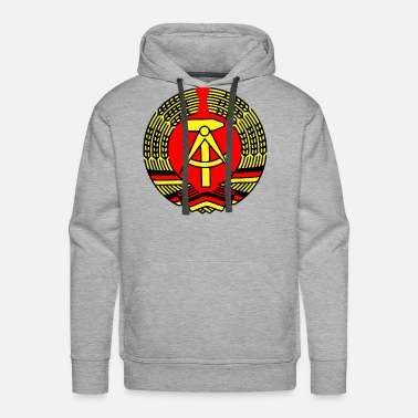 Ddr Crest Ddr Eass Germany - Men's Premium Hoodie