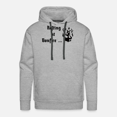 Dark Souls Dark Souls - Resting at Bonfire - Men's Premium Hoodie