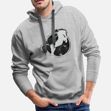 Equitation Horse riding Equestrian sport stud jockey kiss - Men's Premium Hoodie