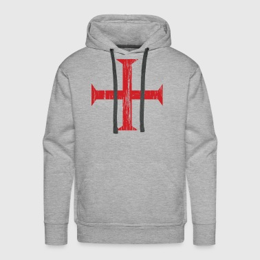 Knights Templar Crusader Cross - Men's Premium Hoodie