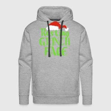 Resting Grinch Face Xmas Present gift - Men's Premium Hoodie