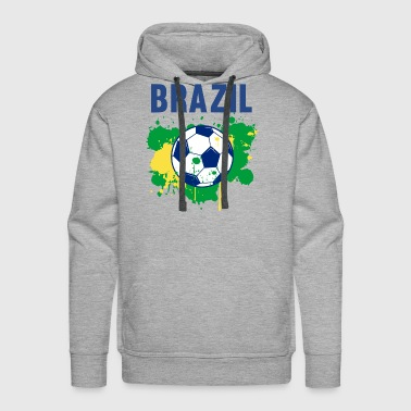 Brazil Soccer Shirt Fan Football Gift Cool Funny - Men's Premium Hoodie