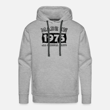 Made In Usa made in 1975 birth day all original parts - Men's Premium Hoodie