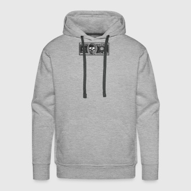 Black Dollar Bill Skull - Men's Premium Hoodie