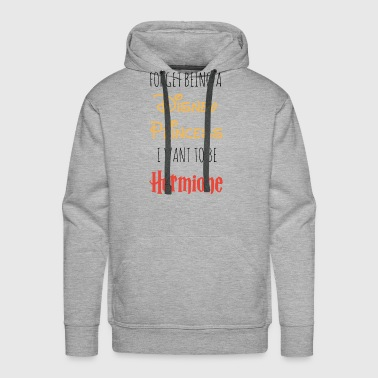 disney princess i want to be hermione game - Men's Premium Hoodie