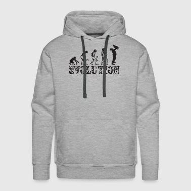Father And Son Evolution Mens Funny Father s Day D - Men's Premium Hoodie