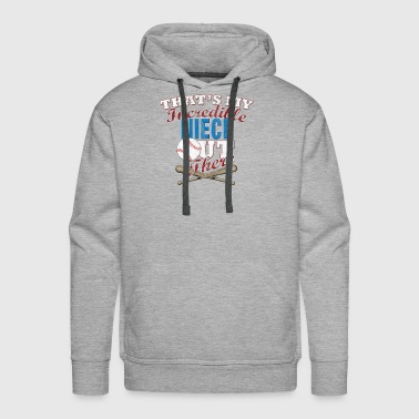 Softball Uncle & Aunt Gift from Niece - Men's Premium Hoodie
