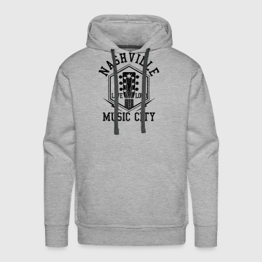 Nashville Tennessee - Country Music City - Men's Premium Hoodie