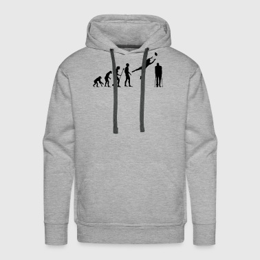 Written Evolution American Football Rugby Broken Leg Foot - Men's Premium Hoodie