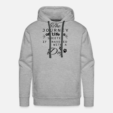 Jack The Journey Of Life Is Sweeter With A Dog - Men's Premium Hoodie