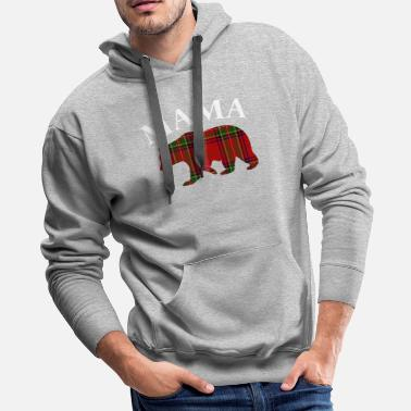 Step Mom Mama Bear Red Plaid for Mom Mommy or Mother - Men's Premium Hoodie