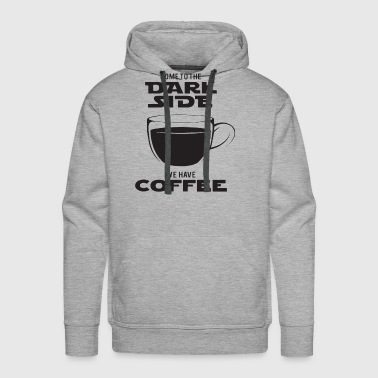C One Dark Side Coffee Funny Star Wars Rogue One Movie C - Men's Premium Hoodie