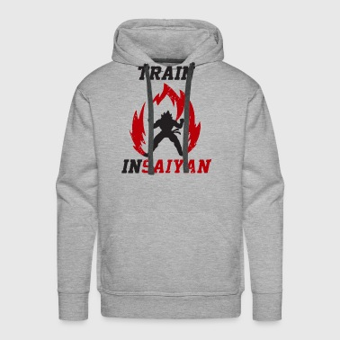 Weight-lifting Train Insaiyan Powerup Vegeta Dragonball Z Weight - Men's Premium Hoodie