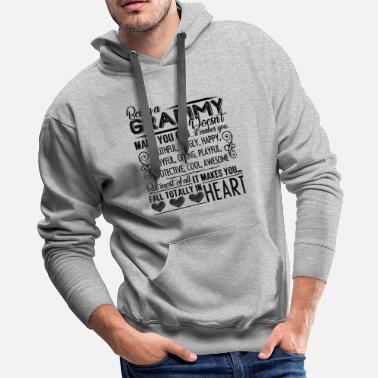 Grammy Grammy Shirt - Being A Grammy Heart T Shirt - Men's Premium Hoodie
