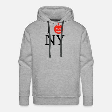 I Love Ny Pumpkin Head I Love New York Newyork Halloween NY - Men's Premium Hoodie