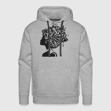 Beauty Salon Hairstyle Hairdresser Cosmetic Care - Men's Premium Hoodie