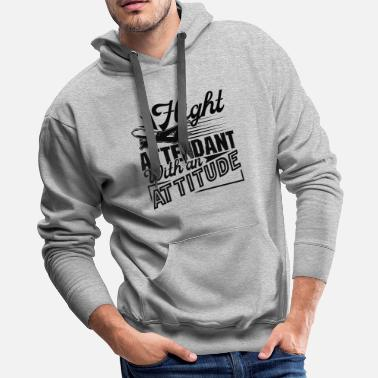 Flight Attendant Shirt - Men's Premium Hoodie