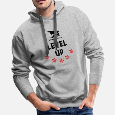 Flashy Legendaire Level-Up Black - Men's Premium Hoodie