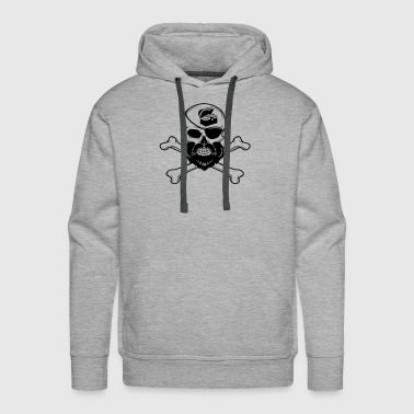 Patches Bearded Pirate Skull Eye Patch Crossbones Skeleton - Men's Premium Hoodie