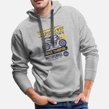 Super-moto Super Cross Exclusive Tshirt Limited Edition - Men's Premium Hoodie