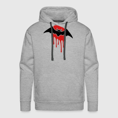 Blood Stains Bat with blood stain - Men's Premium Hoodie