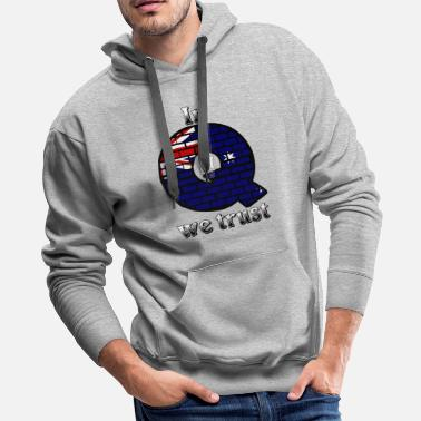 Alice In Wonderland Australia In Q we trust - Men's Premium Hoodie