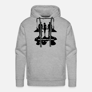 Linux Fear the woman in the middle - Men's Premium Hoodie