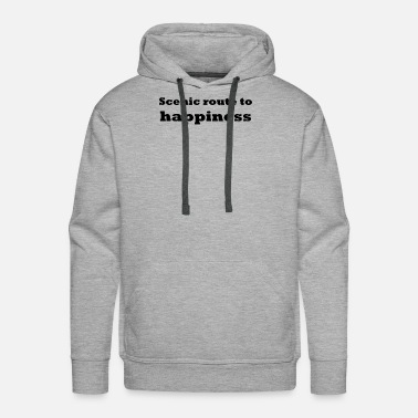 Scenic Scenic route to happiness - Men's Premium Hoodie