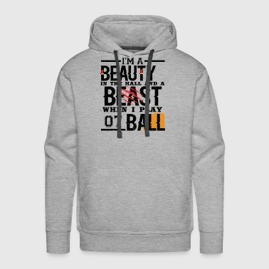 Gameboy IM A BEAUTY IN THE HALL & A BEAST WHEN I PLAY BAll - Men's Premium Hoodie