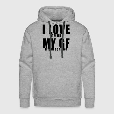 Girlfriend MX Motocross Gift Idea For Boyfriend - Men's Premium Hoodie