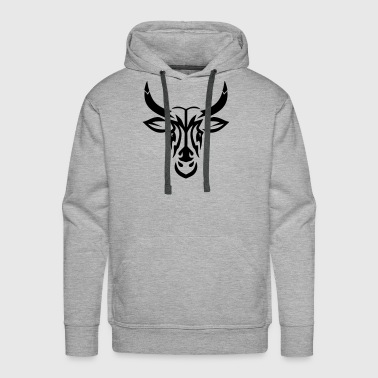 Tribal Tattoo bull tattoo tribal  - Men's Premium Hoodie