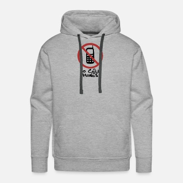 No Cell Phones - Men's Premium Hoodie