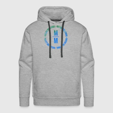 Mature Mature Millennial Statement Shirt Blue Print - Men's Premium Hoodie