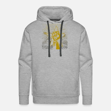 Black And Gold Graffiti fist with star in gold black - gift idea - Men's Premium Hoodie