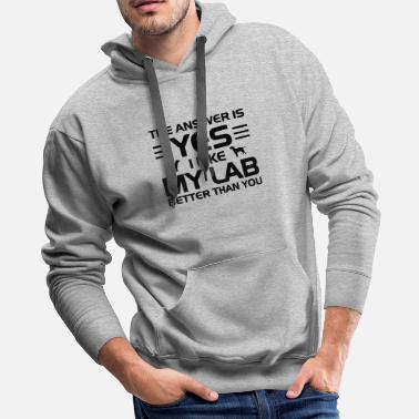 Rescue Dog the answer is yess - Men's Premium Hoodie