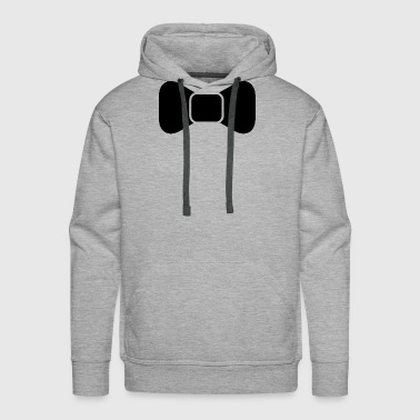 Black bow tie isolated - Men's Premium Hoodie
