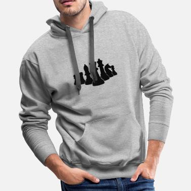 Dart king of chess - Men's Premium Hoodie