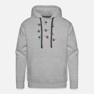 Candy-cane candy Canes - Men's Premium Hoodie