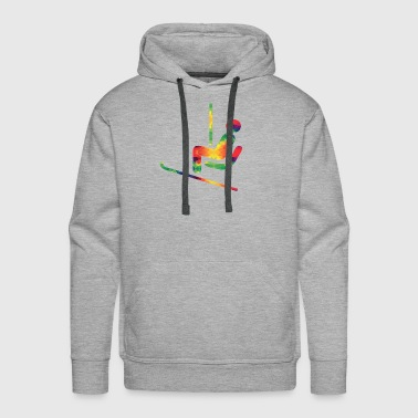 Colorful ski rider - Men's Premium Hoodie