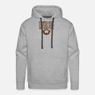 Manly Beards Manly Beneficial - Men's Premium Hoodie