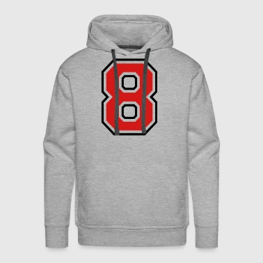 Jersey Number Number eight - 8 - Men's Premium Hoodie