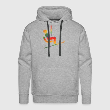 Colored ski runner - Men's Premium Hoodie