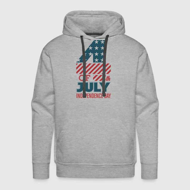 USA - 4th of July - Independence Day - July 4th - Men's Premium Hoodie
