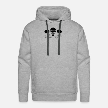 Pilot Hot Air Balloon Pilot Saying - Men's Premium Hoodie