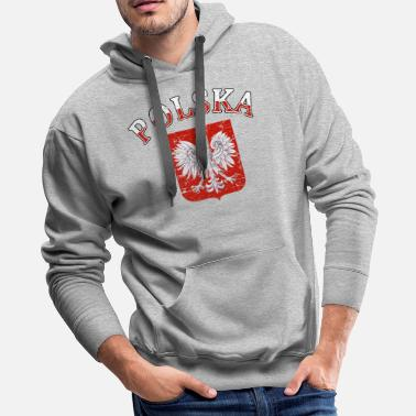 Polska Polska Coat of arms designs - Men's Premium Hoodie