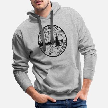 Backpacker Camping Shirt I Outdoor Nature Travel Backpacker - Men's Premium Hoodie