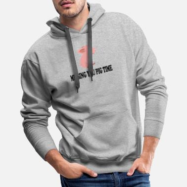 Sheep Missing You Big Pig Time - Men's Premium Hoodie